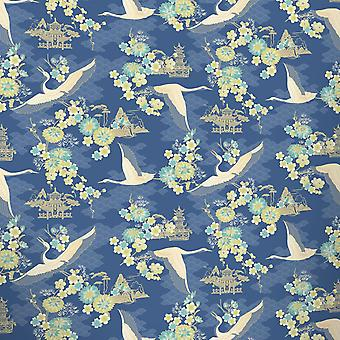 Fond d'écran oiseaux fleurs Floral Temple Oriental métallique brillant Rasch