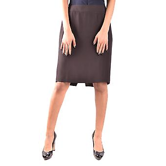 Armani Collezioni Brown Acetate Skirt