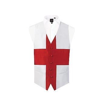 Dobell Mens England St George Waistcoat passen regelmäßig 5 Tasten