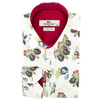 Claudio Lugli Butterfly Tapestry Print Mens Shirt