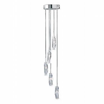Searchlight Sculptured Ice 885-5 5 Modern Pendant