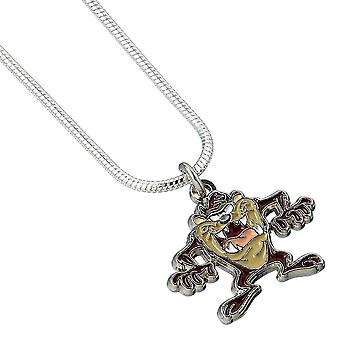 Looney Tunes Silver Plated Taz Character Necklace