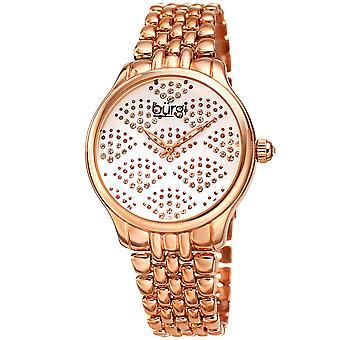 Burgi Women's BUR205 Swarovski Crystal Diamond Sparkle Bracelet Watch BUR205RG