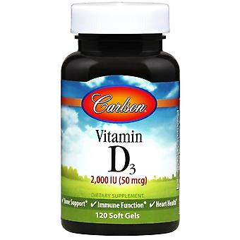 Carlson Labs Vitamin D3 2000 IU 120 Softgels