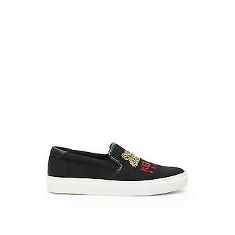 Kenzo svart bomull Slip på Sneakers