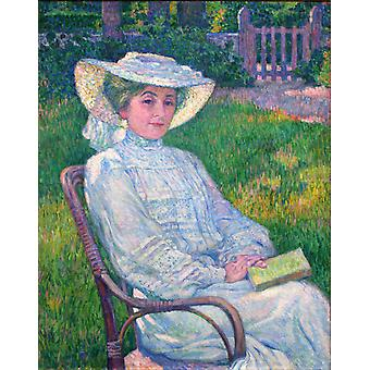 The Woman in White,Theo Van Rysselberghe,50x40cm