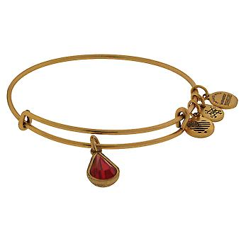 Alex and Ani July Drop Charm Bangle Bracelet - Rafaelian Gold - A17EB46RG