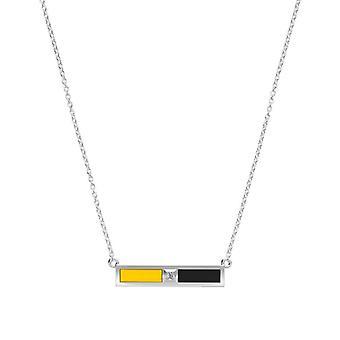 Appalachian State University Diamond Bar Necklace In Yellow And Black
