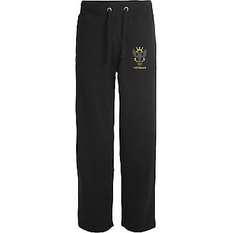 Mercian Regiment Veteran - Licensed British Army Embroidered Open Hem Sweatpants / Jogging Bottoms