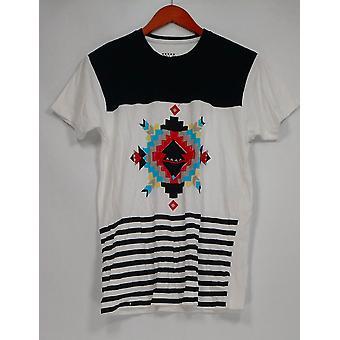 Galaxy door harvic mannen ' s korte mouw front patroon shirt Multi-Color