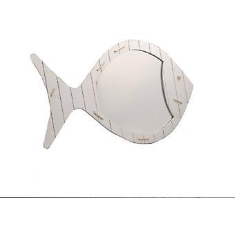 Amadeus White Fish Mirror (Decoration , Mirrors)