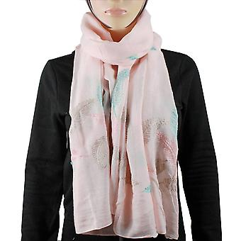 Cotton 100% scarf feather light pink