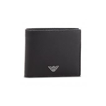 Emporio Armani Eagle Branded Bifold Black Wallet