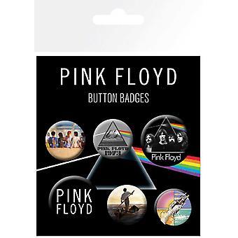 Pink Floyd Abzeichen Pack Alben DSOTM neue offizielle 6 Pack (4 x 25mm & 2 x 32mm)