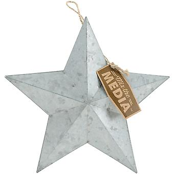 Mix The Media Galvanized Star Small-9.25