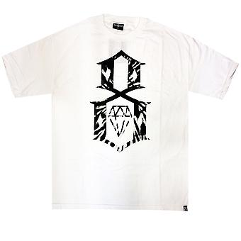 Rebel8 Tie Dye Logo camiseta blanco