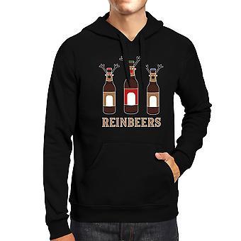 Rein Beers Christmas Hoodie Humorous Unisex Hooded Sweatshirt