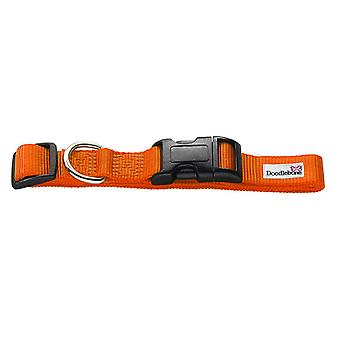 Doodlebone Bold Nylon Collar Orange Small 20mm X 30-50cm