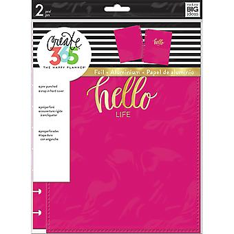 Create 365 Classic Snap-In Hard Cover Planner-Hello Life COLC-6