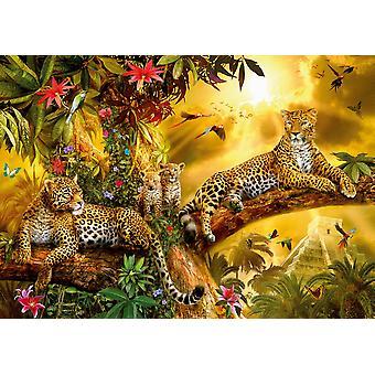 Jungle Jaguars plakat Print af Jan Patrick