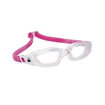 Aqua Sphere Kameleon Junior -6-14 anni - nuotare Google-Clear Lens-chiaro/bianco/rosa