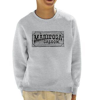 Mariposa Saloon Sweetwater Westworld Black Kid's Sweatshirt