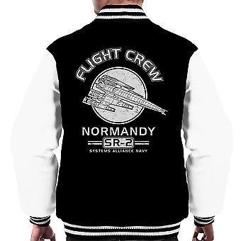 Normandiet Flight Crew Mass Effect mænds Varsity jakke