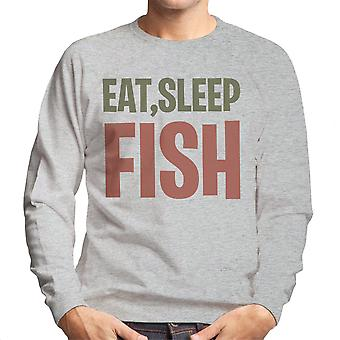 Eat Sleep Fish Men's Sweatshirt