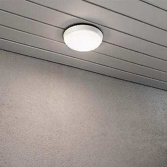 Konstsmide Cesena White Disk Ceiling Flush Porch Light