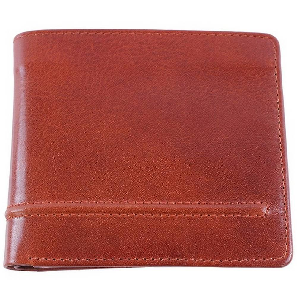 Dents Leather Coin Purse Bill-Fold Wallet - Cognac Red