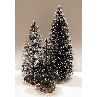 FIR Christmas tree with snow set of 3 12/16/20 cm stable Nativity accessories