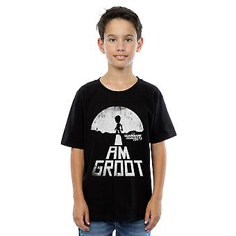 Marvel Boys Guardians Of The Galaxy I Am Groot White T-Shirt