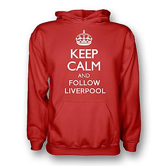 Keep Calm And Follow Liverpool Hoody (red) - Kids