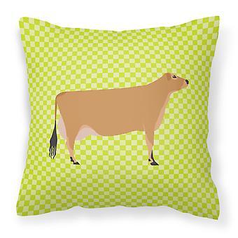 Carolines Treasures  BB7655PW1818 Jersey Cow Green Fabric Decorative Pillow
