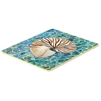 Carolines Treasures  BB5368CMT Sea Shell and Water Kitchen or Bath Mat 20x30