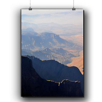 Matte or Glossy Poster with Mountain Summit Nature | Wellcoda | *q278