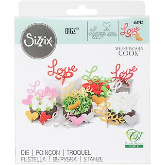 Sizzix Bigz 3-D Die By Where Women Cook-3D Love 661912