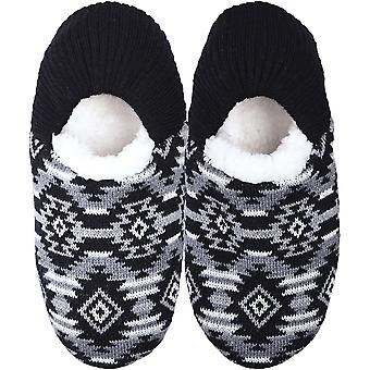 K Bell Slippers-Aztec Black - Medium/Large 17S001-1ML