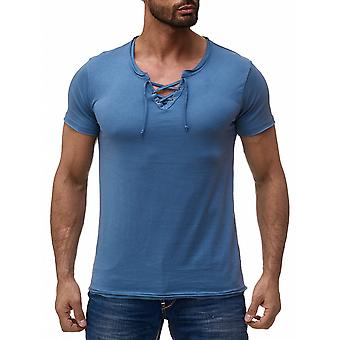 Men's T-Shirt Unisex Polo V-neck clubwear cord shirt short sleeve vintage