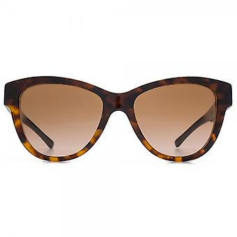 Burberry Two Tone Cateye Sunglasses In Dark On Light Havana