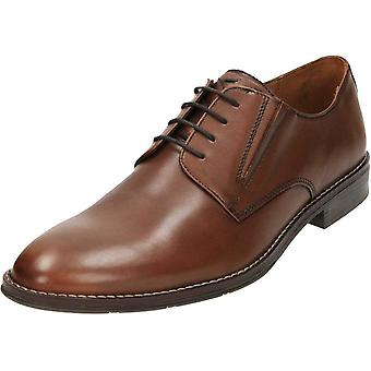 Hush Puppies Bo Bronson Mens Smart Lace Up Derby cuir chaussures