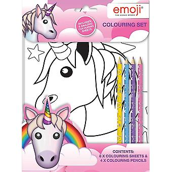 Emoji Unicorn Colouring Set Kids Activity Pack