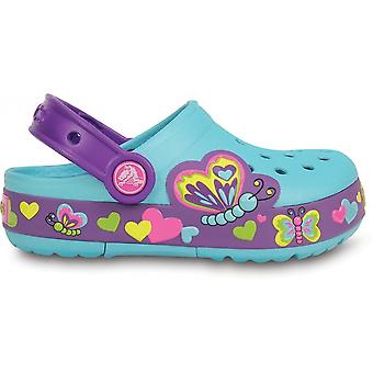 Crocs Girls Flashing Watersafe Shoes With Butterfly