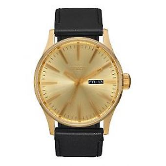 Nixon The Sentry Leather All Gold / Black (A105510)