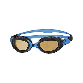 Zoggs Predator Flex Polarized Ultra Adult Swim Goggles - Black/Blue/Copper