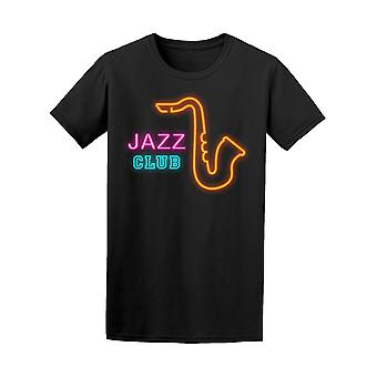 Jazz Club and Sax In Sharp Style Tee Men's -Image by Shutterstock