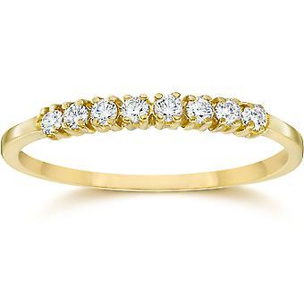 1/5CT Diamond Ring 10K Yellow Gold