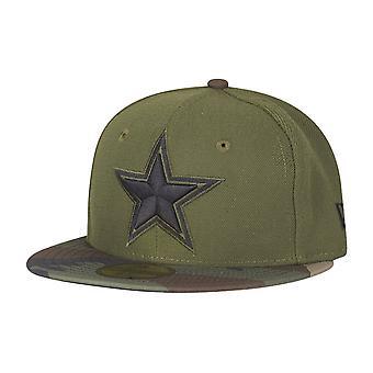 Ny æra 59Fifty barna Cap - Dallas Cowboys camo oliven / tre