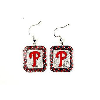 Philadelphia Phillies MLB Polka Dot Style Dangle Earrings
