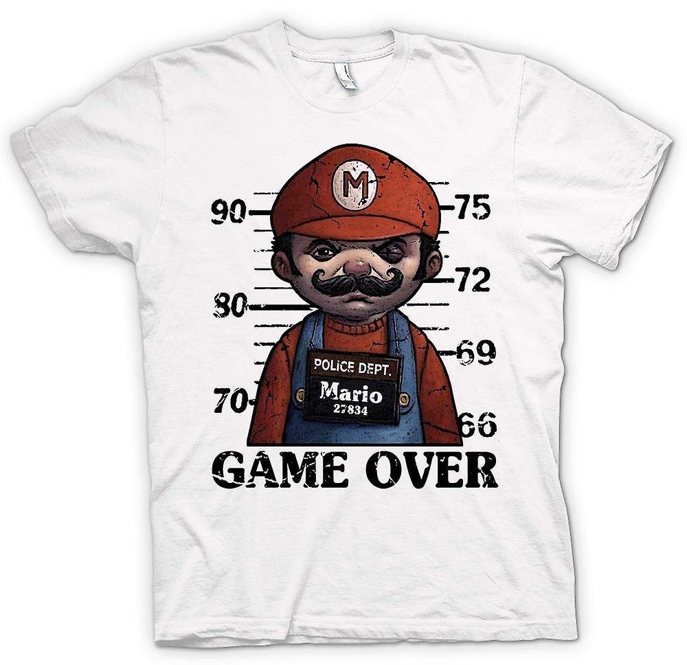 Womens T-shirt - Mario - Mug Shot - Funny